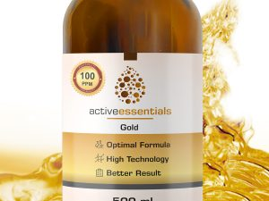 Active Essentials® Kolloidal Altın Suyu 100ppm